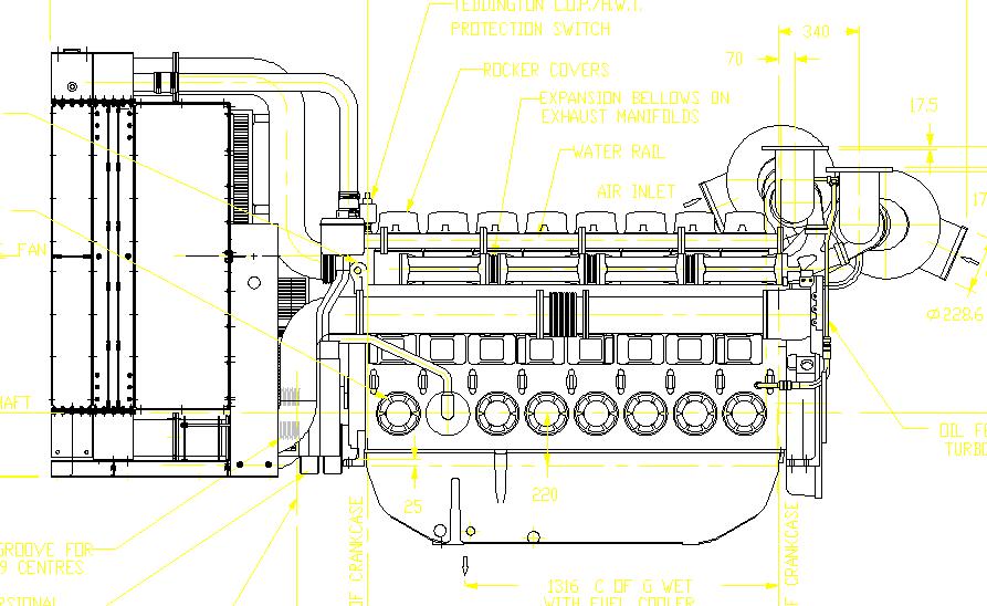 728kw帕金斯柴油发电机组